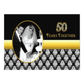 50. Hochzeitstag-Einladungen 14 X 19,5 Cm Einladungskarte