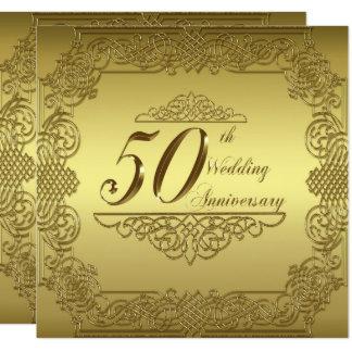 50. Hochzeitstag-Einladungs-Karte Karte