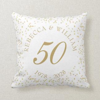 50. Hochzeitstag-GoldstaubConfetti Zierkissen