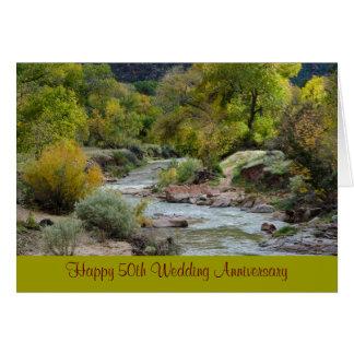 50. Hochzeitstag-Natur-Gruß-Karte Karte