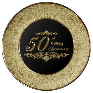 50. Hochzeitstag-Porzellan-Platte Porzellanteller