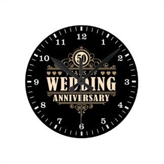 50. Hochzeitstag Uhr