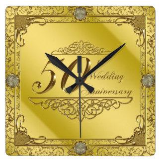 50. Hochzeitstag-Wanduhr Wanduhr