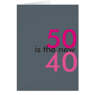 50 ist die neuen 40, Hoostrahl für Grußkarte