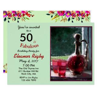 50 ist fabelhafte 50. Geburtstagseinladung Karte