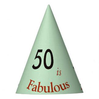50 ist fabelhafter PapierPartyhut Partyhütchen