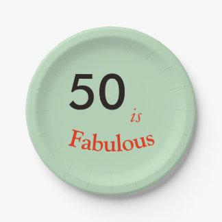 50 ist fabelhaftes zusammenpassendes Set der Pappteller