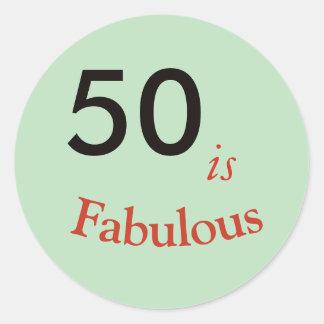 50 ist runder Klassiker des fabelhaften Runder Aufkleber