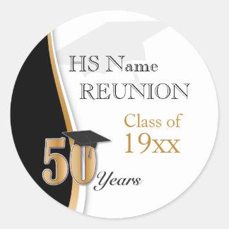 50 Jahr-Klassen-Wiedersehen im Gold und im Runder Aufkleber