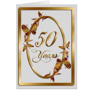 50 Jahre (Jahrestag) Karte