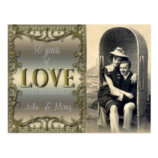 50 Jahre Liebe Postkarte