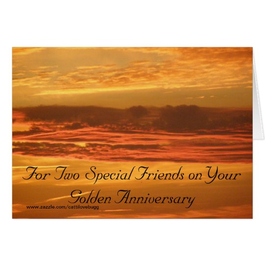 50 Jahre zusammen feiern Grußkarte