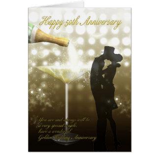 50. Jahrestag - Champagne Grußkarte