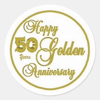 50. Jahrestags-Blatt von 20 Goldrunden Aufklebern Runder Aufkleber