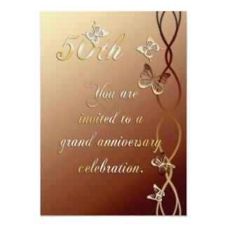 50. Jahrestags-Einladung 12,7 X 17,8 Cm Einladungskarte