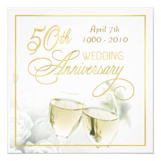 50. Jahrestags-Party Einladungen - Quadrat