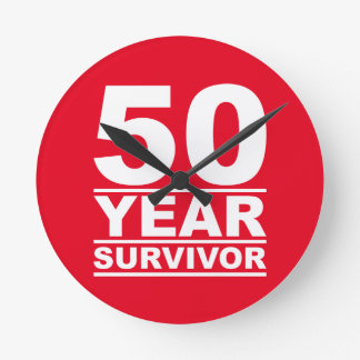50-jähriger Überlebender Runde Wanduhr