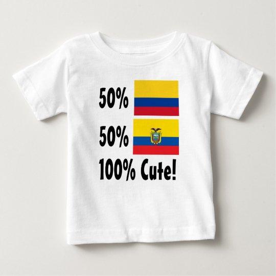 50% kolumbianischer 50% Ecuadorian 100% niedlich Baby T-shirt