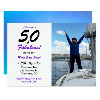 50 u. fabelhafte 50. Geburtstags-Foto Einladung