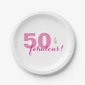 50 u. fabelhafter Geburtstags-Party-Papier-Teller Pappteller