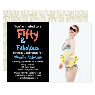50 u. fabelhaftes Geburtstags-Party 12,7 X 17,8 Cm Einladungskarte