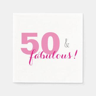 50 u. fabelhaftes rosa papierservietten