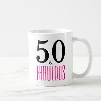50 und fabelhafte 50. Geburtstags-Geschenk-Tasse Tasse