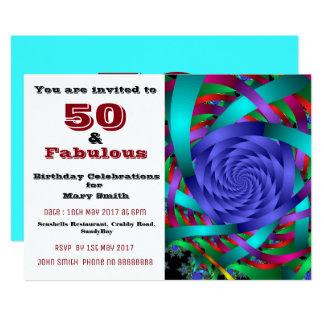 50 und fabelhafte fünfzigste Geburtstagseinladung Karte