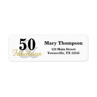 50 und fabelhafter Geburtstag
