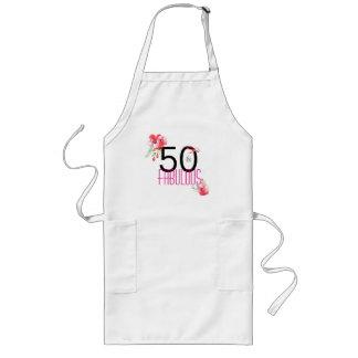 50 und fabelhaftes Blumen50. Geburtstags-Party Lange Schürze
