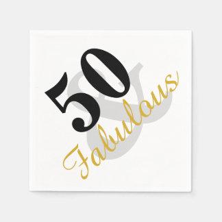 50 und fabelhaftes servietten