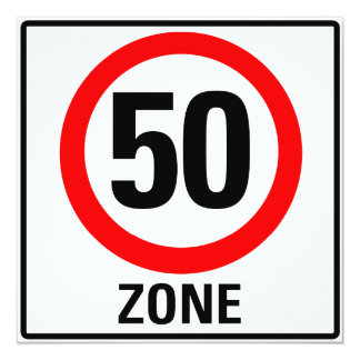 50 Zone Quadratische 13,3 Cm Einladungskarte