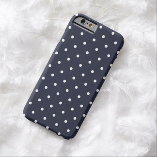 50er Art-klassischer blauer Polka-Punkt iPhone 6 Barely There iPhone 6 Hülle