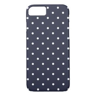 50er Art-klassischer blauer Polka-Punkt iPhone 6 iPhone 8/7 Hülle