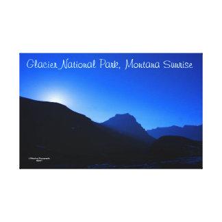 "51"" x 33"" Gletscher-Park-Sonnenaufgang wickelte Leinwanddruck"