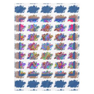 """52"""""""" Tischdecke x70 bunte abstrakte Muster-Kunst"""