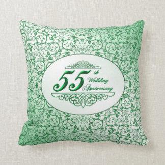 55. Hochzeitstag-Wurfs-Kissen Kissen