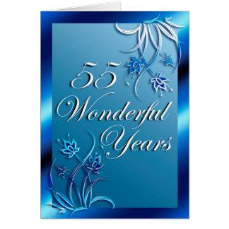 55 wunderbare Jahre (Jahrestag) Karte