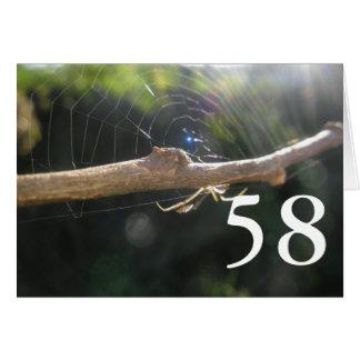 58. Geburtstag Karte