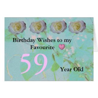 59. Geburtstag Karte