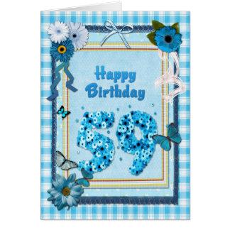 59. Geburtstag mit einem Einklebebucheffekt Karte