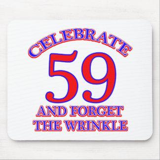 59 Geburtstags-Entwurf Mauspad