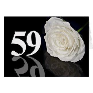59. Geburtstags-Karte mit einer klassischen weißen Karte