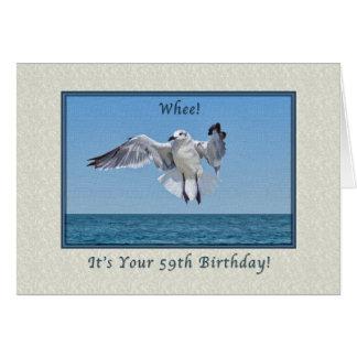 59. Geburtstags-Karte mit lachende Möven-Vogel Karte