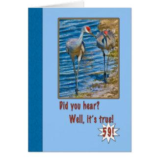 59. Geburtstags-Karte mit Sandhill Kränen Karte
