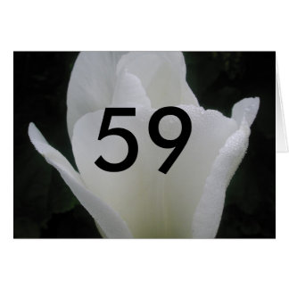 59. Geburtstags-weißer Tulpealter Geburtstags-Gruß Karte