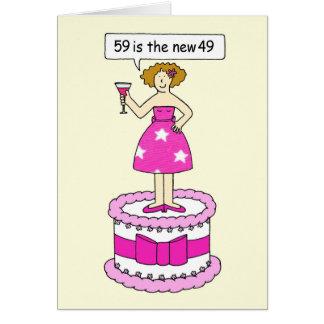59 ist die neue 49-Geburtstags-Feier für sie Karte