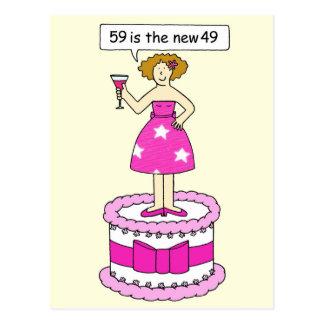 59 ist die neue 49-Geburtstags-Feier für sie Postkarte