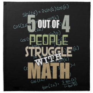 5 aus dem 4 Leute-Kampf mit Mathe - Neuheit heraus Stoffserviette