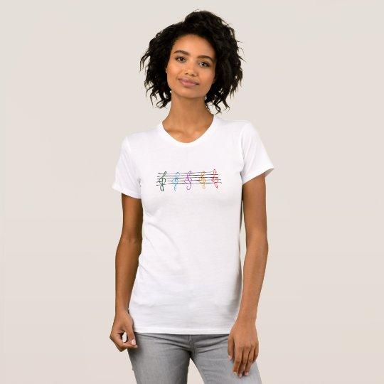 5 einzigartiger Farbdreifacher Clef-T - Shirt